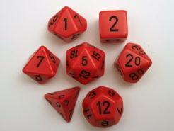 Chessex Opaque Polydice Set - Red/black
