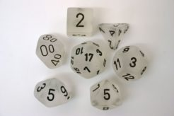 Chessex Polydice Set - Frosted Clear/black