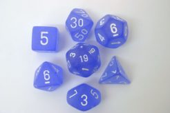 Chessex Polydice Set - Frosted Blue/white
