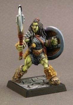 Reaper Dark Heaven Legends 03215 Jadeah, 1/2 Orc Barbarian