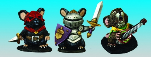 Reaper Dark Heaven Legends 03542 Mouslings: Bard Thief Knight
