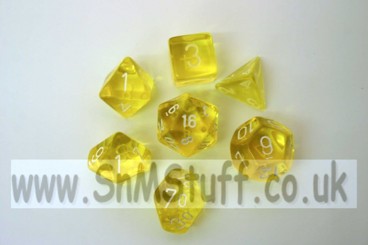 Chessex Translucent Yellow/white  Polydice Set