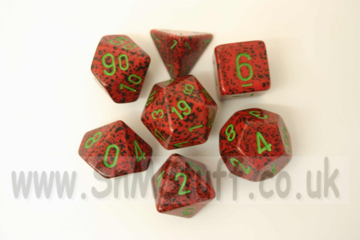 Chessex Speckled Polydice Strawberry