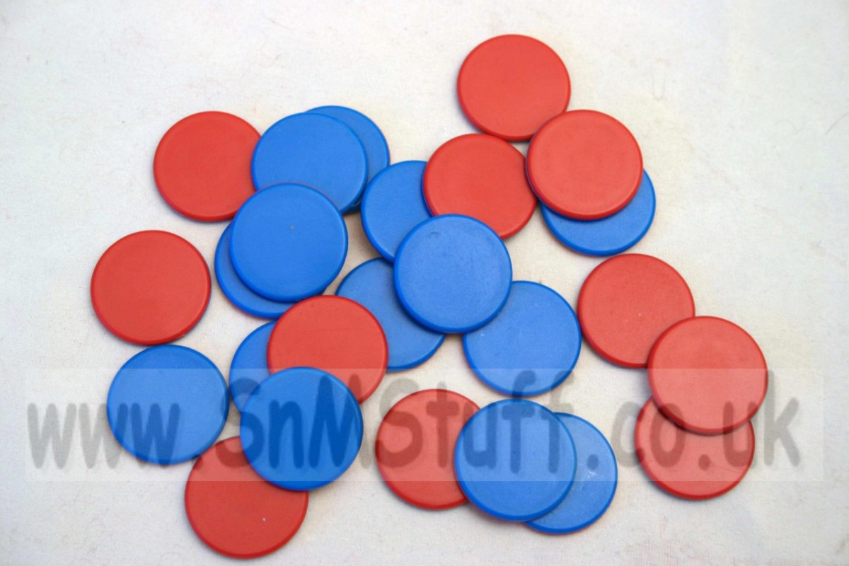 Double Sided Counters - red/blue