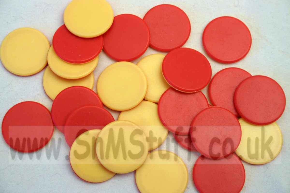 Double Sided Counters - red/yellow