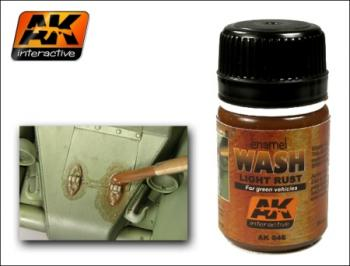 AK Interactive - Enamel Wash: Light Rust for Green Vehicles