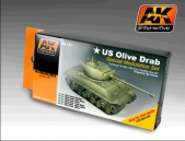 AK Interactive Olive Drab Color Modulation Set