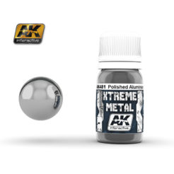 AK Interactive - Xtreme Metal Paints - Polished Aluminium