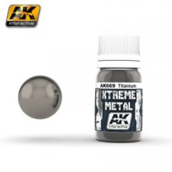 AK Interactive - Xtreme Metal Paints - Titanium
