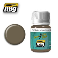 Mig Ammo Panel Line Wash (35ml) - Shadow For Desert Brown