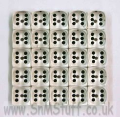 15mm Gem Spot Dice - Pack of 25 Clear