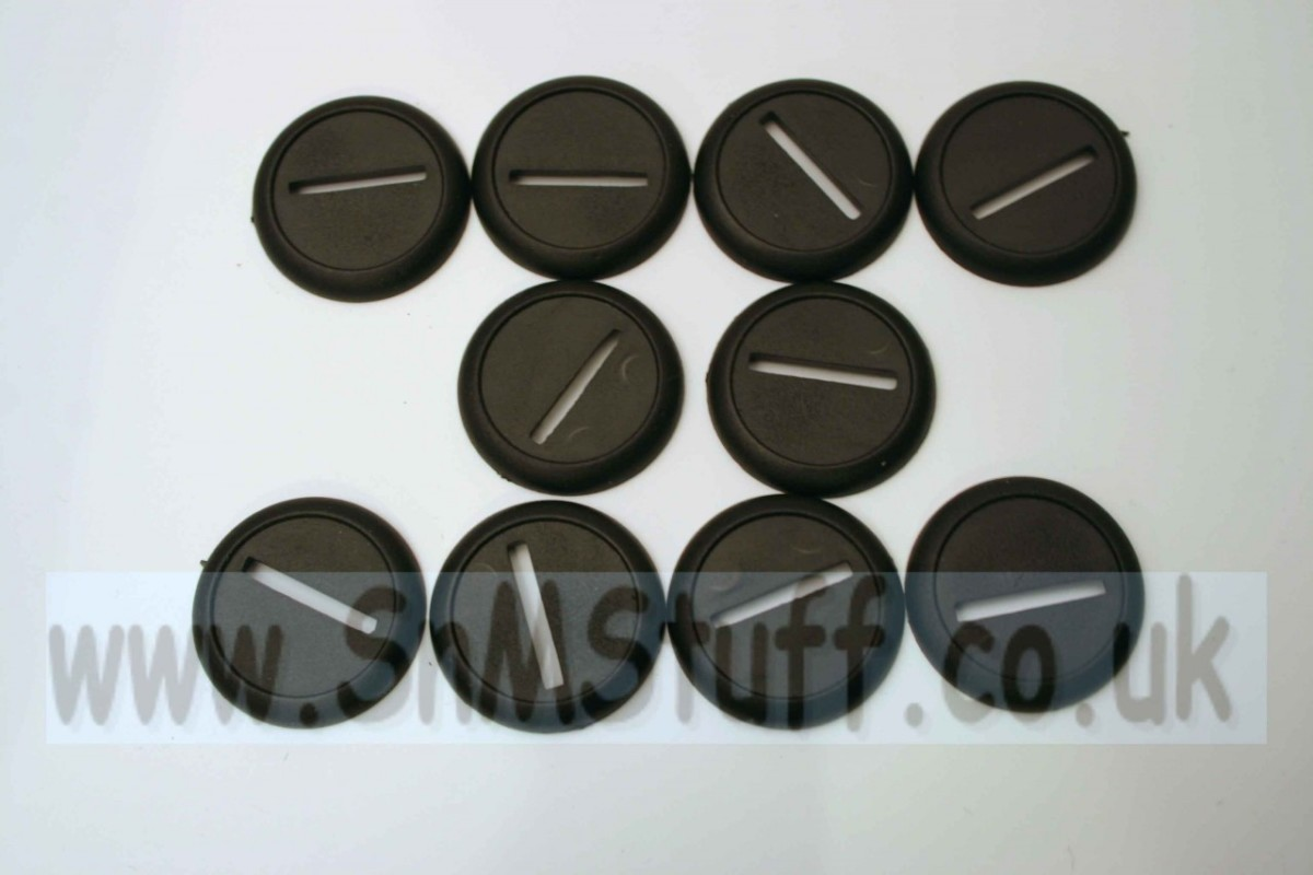 Bases: Round 30mm with lip - bag of 10