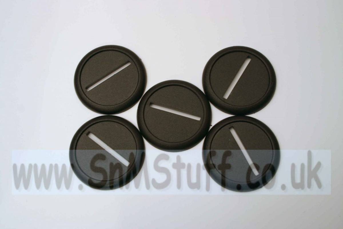 Bases: Round 40mm with lip - bag of 5