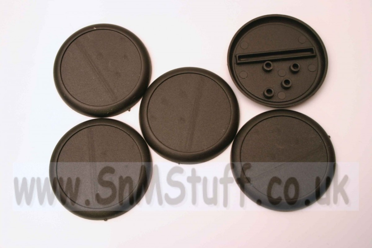 Bases: Round 50mm with lip - bag of 5