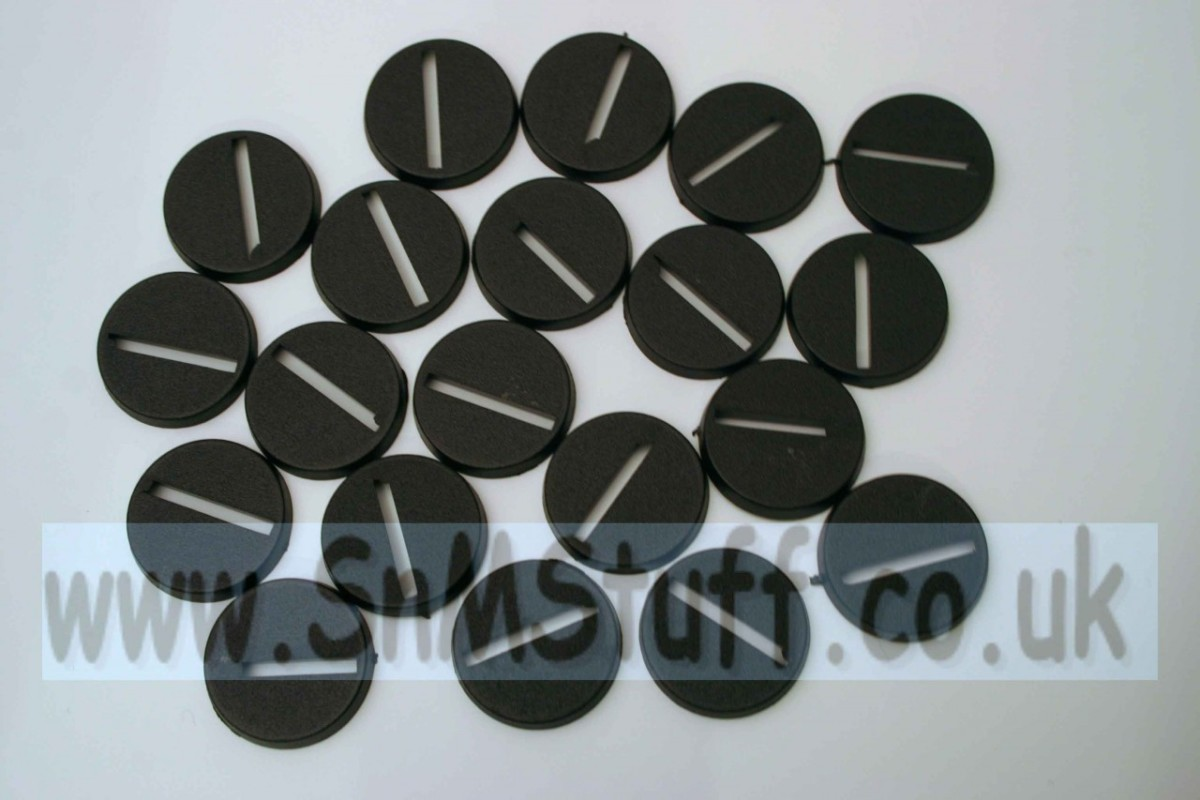 Bases: Round 25mm - bag of 20