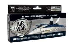 Vallejo Model Air Set - US Navy & USMC Colors from 70's to present
