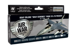 "Vallejo Model Air Set - USAF Colors ""Gray Schemes"" from 70's to present"