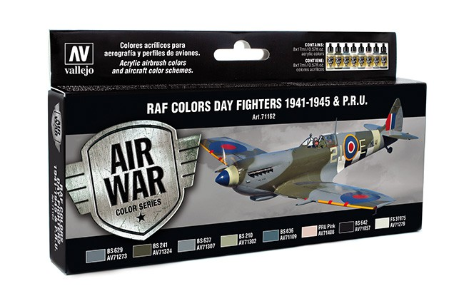 Vallejo Model Air Set 8 - RAF Colours Day Fighters 1941 - 1945 & P.R.U.