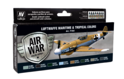 Vallejo Model Air Set - Luftwaffe Maritime and Tropical Colors