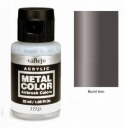 Vallejo Acrylics Metal Color - Burnt Iron 32ml