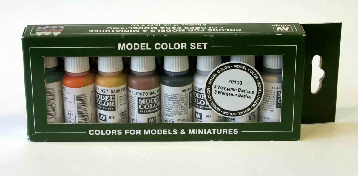 Vallejo Model Color Set 8 Wargames Basics