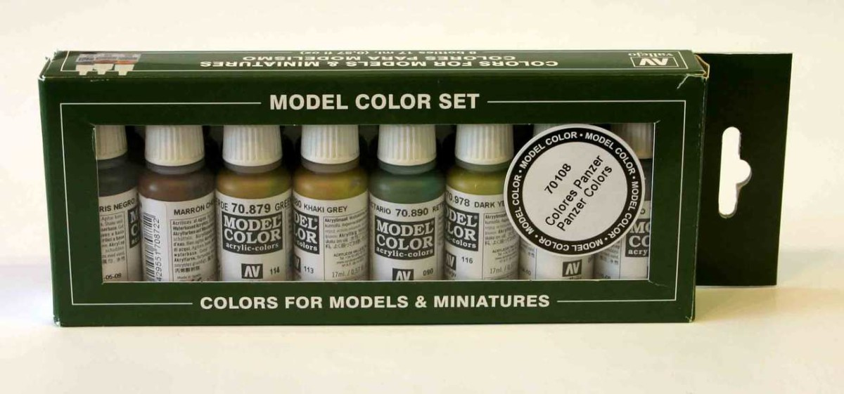 Vallejo Model Color Set 8 Panzer Colours