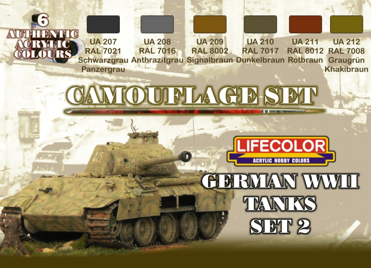 Lifecolor German Wwii Tanks 2 22ml X 6 Snm Stuff