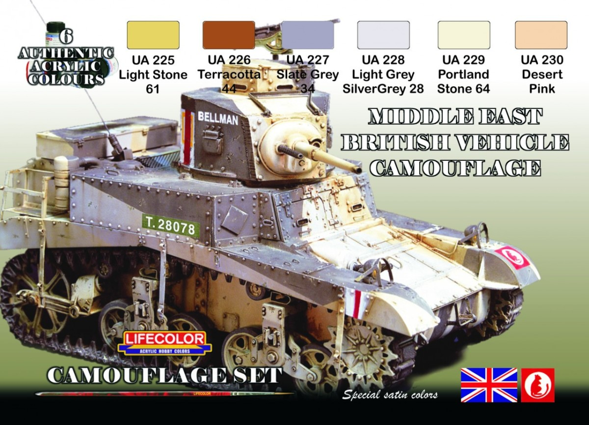 LifeColor Middle East British Armour (22ml x 6)