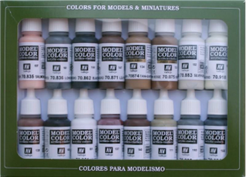 Vallejo Model Color Set 16 Equestrian Colours