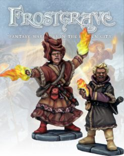 Frostgrave Elementalist and Apprentice