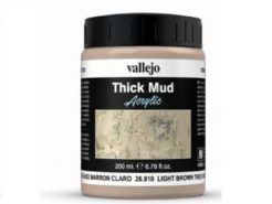 Vallejo Weathering Effects 200ml - Light Brown Thick Mud
