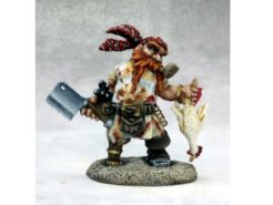 Reaper Dark Heaven Legends 03626 Gruff Grimecleaver, Dwarf Pirate Cook