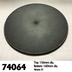 Reaper Miniatures 74064 - 160mm Round Bases - Pack of 4