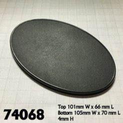 Reaper Miniatures 74068 - 105mm x 70mm Oval Bases - Pack of 4