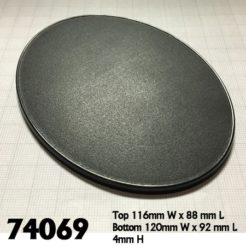 Reaper Miniatures 74069 - 120mm x 92mm Oval Bases - Pack of 4