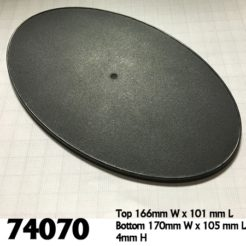 Reaper Miniatures 74070 - 170mm x 105mm Oval Bases - Pack of 4