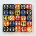 Pearl Six Sided Dice