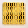 Yellow Six Sided Dice