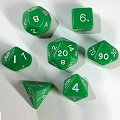 Green Polydice Sets