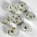 White Polydice Sets