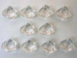 Chessex Translucent Clear/white 10 x D10 Set