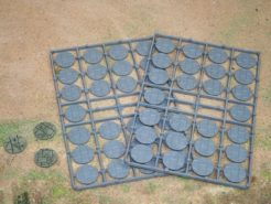 Renedra 25mm Round Paved Effect Plastic Bases