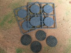 Renedra 50mm Round Paved Effect Plastic Bases