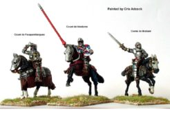 Metal Perry Miniatures French Mounted Command at Agincourt
