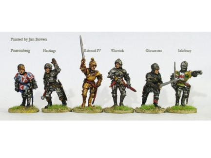 Perry Miniatures Yorkist Command and Warwick on Foot
