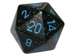 Chessex 20 Sided Dice - Large 34mm Speckled Blue Stars