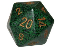 Chessex 20 Sided Dice - Large 34mm Speckled Golden Recon