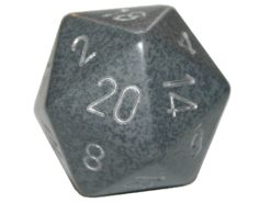 Chessex 20 Sided Dice - Large 34mm Speckled Hi-Tech