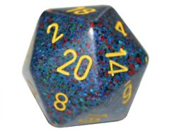 Chessex 20 Sided Dice - Large 34mm Speckled Twilight