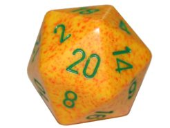 Chessex 20 Sided Dice - Large 34mm Speckled Lotus
